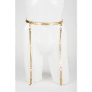 Gold Python Garter Belt