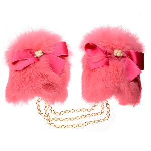 Pearl Fur Handcuffs pink