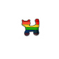 Rainbow cat single Pin